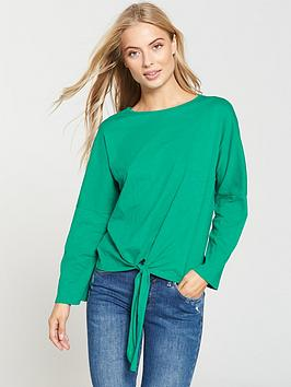 v-by-very-tie-front-t-shirt-apple-green