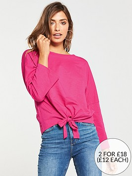 v-by-very-tie-front-tshirt