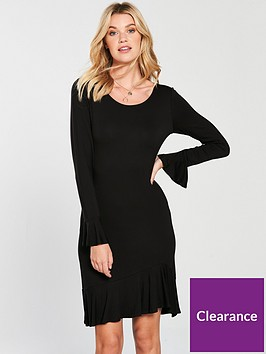 v-by-very-frill-tunic-dress-black
