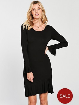 v-by-very-frill-tunic-dress-black