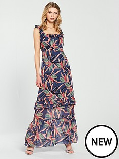 lost-ink-printed-ruffle-maxi-dress