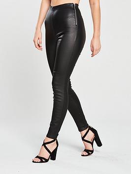 lost-ink-petite-coated-skinny-trouser