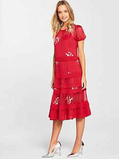 lost-ink-sheer-and-embroidered-detail-shift-dress-dark-pink