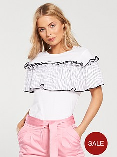 lost-ink-t-shirt-with-polka-dot-ruffle-white