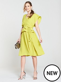 lost-ink-lost-ink-placket-side-midi-dress-with-peplumnbsp--limenbsp