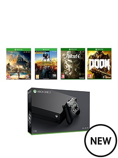 xbox-one-x-console-plus-pubg-assassins-creed-fallout-4-doom-and-12-months-live