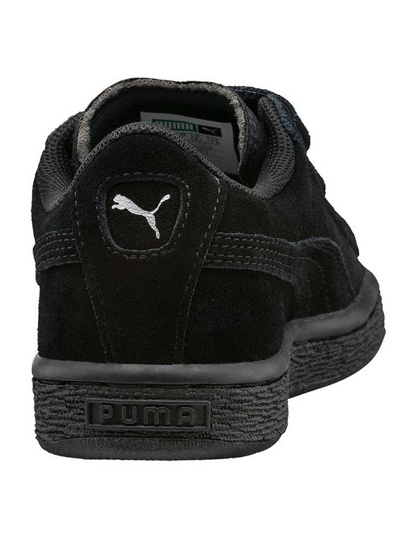 on sale 3a3de 44198 Suede Classic 2 Straps Childrens Trainers - Black