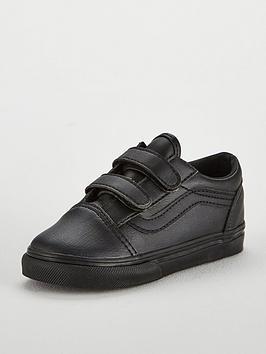 vans-old-skool-leather-infant-trainer-blacknbsp