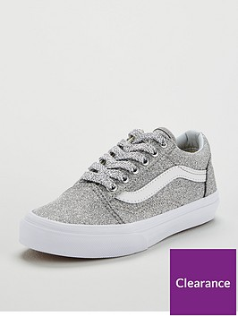 vans-old-skool-glitter-junior-trainers-sliverwhite