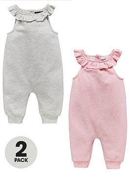 mini-v-by-very-baby-girls-2pk-oatmeal-amp-pink-marl-dungarees