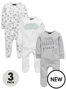mini-v-by-very-baby-unisex-3pk-slogan-amp-animal-sleepsuits