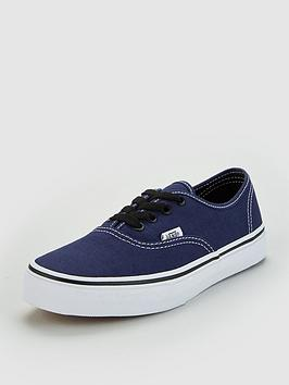 vans-authentic-junior-trainers-navy