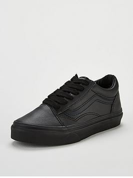 vans-old-skool-leather-junior-trainer-blacknbsp