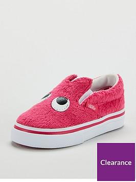 vans-slip-on-friend-monster-infant-trainers-pinkwhite