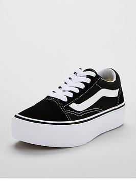 c522ac9eb4 Vans Old Skool Junior Platform Trainers - Black