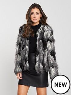 v-by-very-collarless-faux-fur-jacket-blackwhite