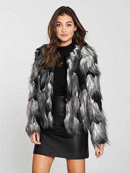 v-by-very-collarless-faux-fur-jacket-blackwhite