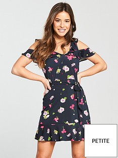 v-by-very-petite-cold-shoulder-skater-dress