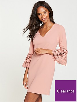 v-by-very-frill-lace-sleeve-tunic-dress-blush