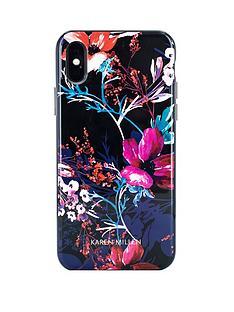 karen-millen-iphone-x-flowerblack-shell