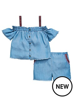 v-by-very-girls-tencel-top-and-short-set