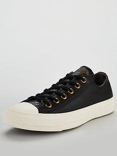 cfe65dc42a7f Converse Chuck Taylor All Star Leather Ox - Black