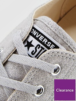 1e76af46585 ... Converse Chuck Taylor All Star Glitter Dainty Ox - Silver. View larger
