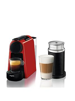 Nespresso   Essenza Mini Coffee Machine And Aeroccino By Magimix - Ruby Red
