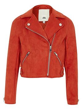 river-island-girls-red-faux-suede-biker-jacket