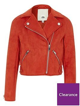 river-island-girls-red-faux-suede-biker-jacket