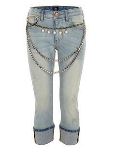 river-island-girls-blue-chain-belt-turn-up-skinny-jeans
