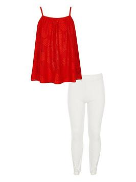 river-island-girls-red-pineapple-lace-cami-top-outfit