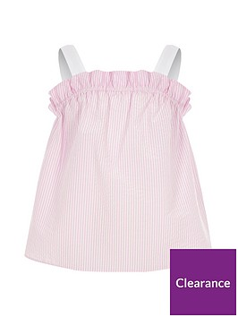river-island-girls-pink-stripe-frill-cami-top