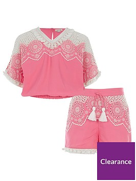 river-island-girls-pink-embroidery-top-and-shorts-outfit