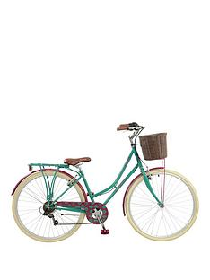 elswick-deluxe-womens-700c-heritage-bike-6-speed-thumb-shifter-mudguards-rear-rack-amp-front-basketnbsppropstand