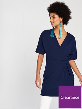 v-by-very-tie-front-tunic-navy