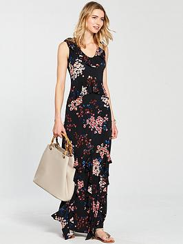 v-by-very-frill-detail-jersey-maxi-dress-print