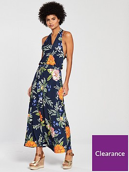 v-by-very-cross-over-halter-neck-maxi-dress-print