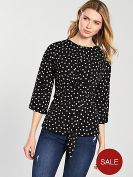 v-by-very-knot-front-tunic-spot-printnbsp