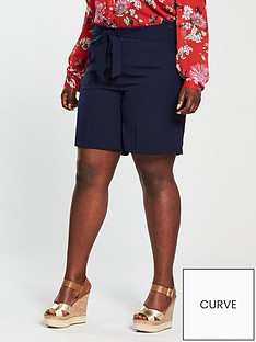 v-by-very-curve-tie-waist-short-navynbsp