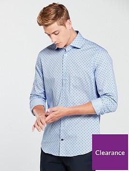tommy-hilfiger-dot-print-classic-shirt-blue