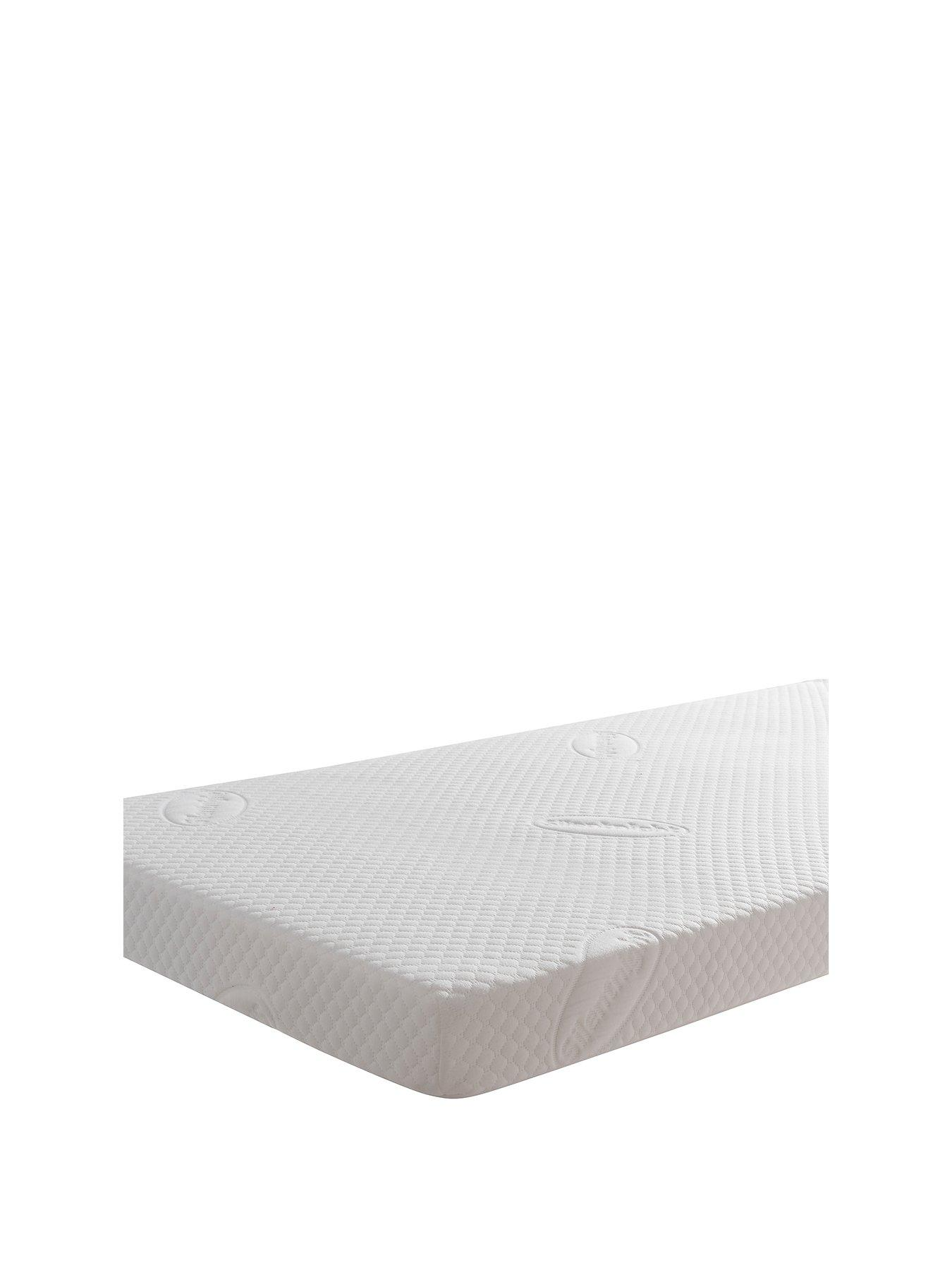 Travel Cot Mattress 93 x 64 x 6 cm For Baby Toddler Children Washable Cover