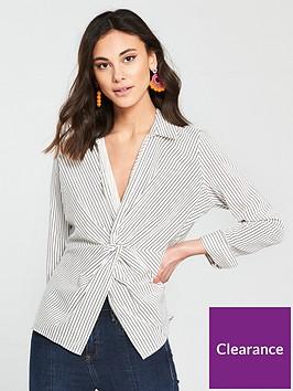 river-island-river-island-stripe-front-twist-shirt--white-stripe