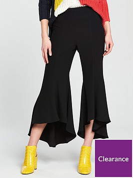 river-island-river-island-cropped-flare-trousers--black