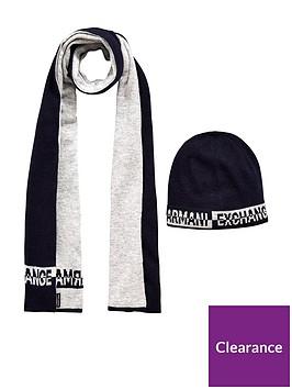 armani-exchange-hat-scarf-set