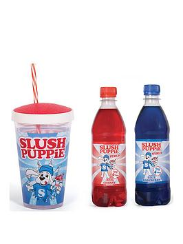 Fizz   Slush Puppie Syrups And Cup Gift Set - Blue Raspberry Or Cherry