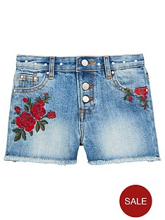 v-by-very-girls-embroidered-stud-denim-shorts