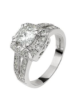 Moissanite Moissanite Moissanite 18 Carat White Gold 185 Points Cushion  ... Picture
