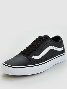 vans-old-skool-leather-blackwhitenbsp