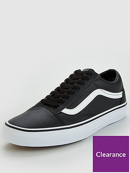 62370ff9dd910f Vans Old Skool Leather - Black White